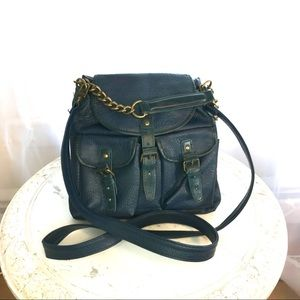 Free People Blue Cross Body Adjustable Bag